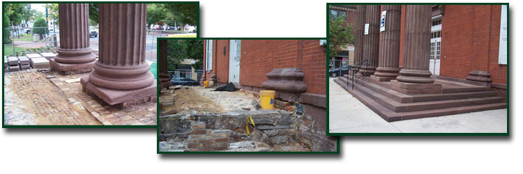Repair and Repalce Masonry, Brick and Cement.