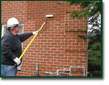 Waterproofing of concrete, stone and brick buildings and structures.